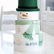 Упаковка в виде снеговика