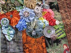 Идеи с цветными тканями