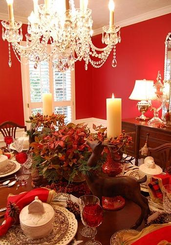 Новогоднее украшение стола