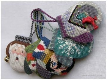 Вязанные игрушки на елку