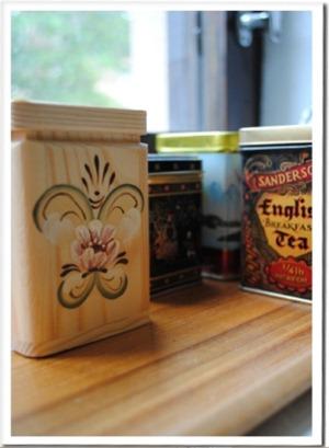 Роспись баночек для чая