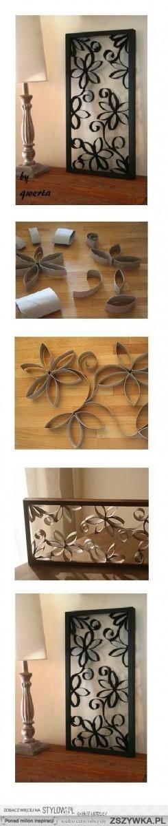 Декоративное панно из рулона туалетной бумаги