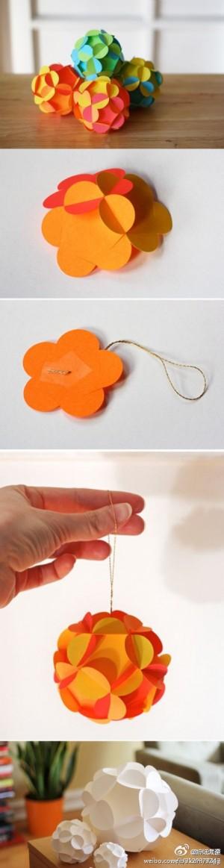 Цветочные шары из бумаги