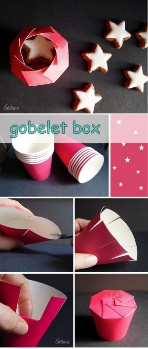 Подарочная упаковка из бумажных стаканчиков