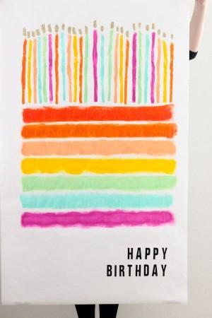 Огромная открытка на день рождения