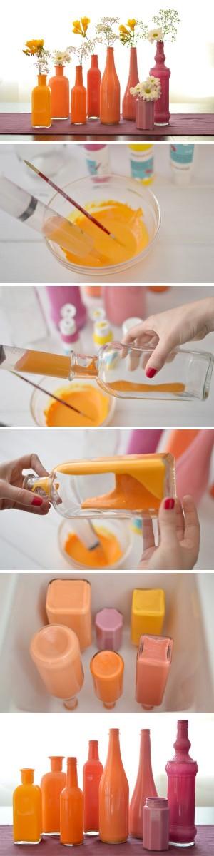 Как из бутылок сделать вазы
