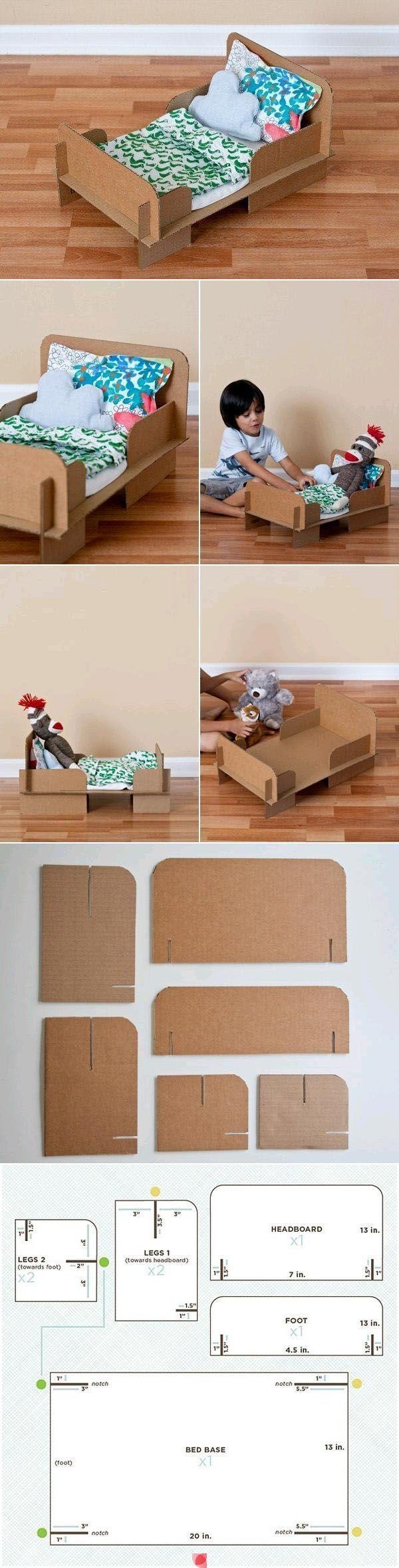 Кроватка для пупса из коробки