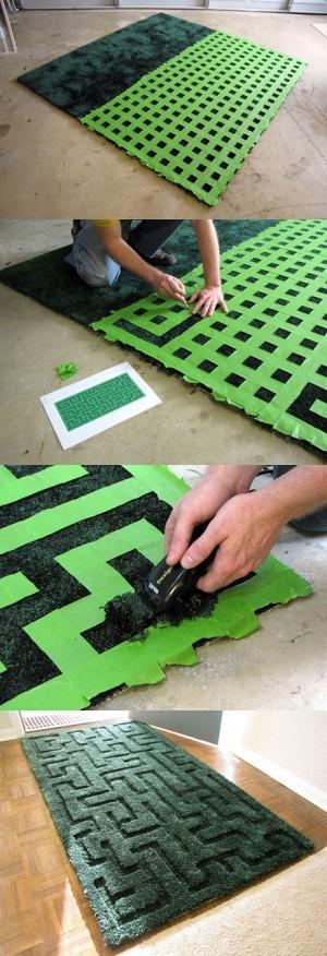 Как сделать лабиринт из коврика