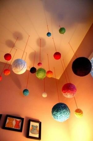 Декор под потолком