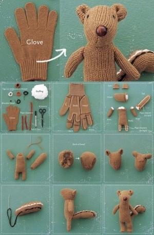 Бурундук из перчатки
