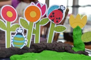Весенние цветы для игр с детьми