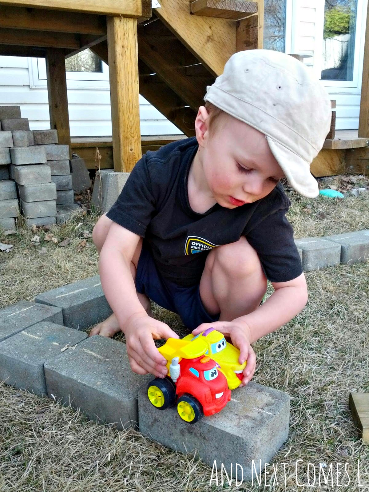 playing-with-cars-on-diy-outdoor-roads3