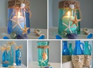Подсвечник из стеклянной вазы