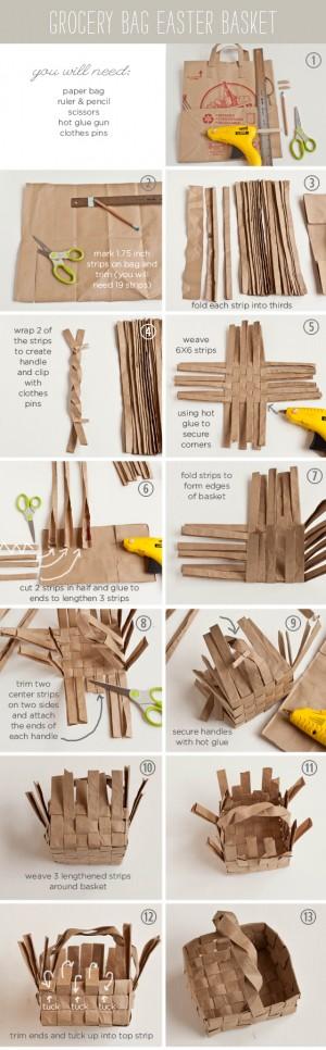 Как сделать корзинку из бумажного пакета